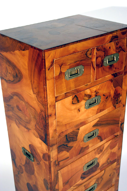 Italian patchwork campaign chest