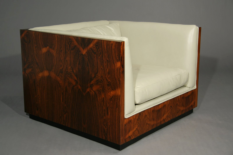 Details of Item :  rosewood 960s mid modern chair