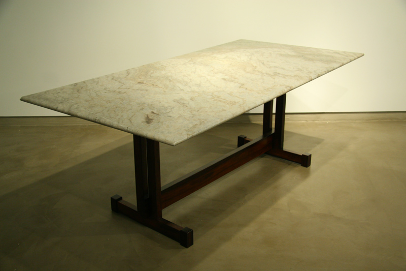 Dining table furniture granite dining table base for How to make a sturdy table base